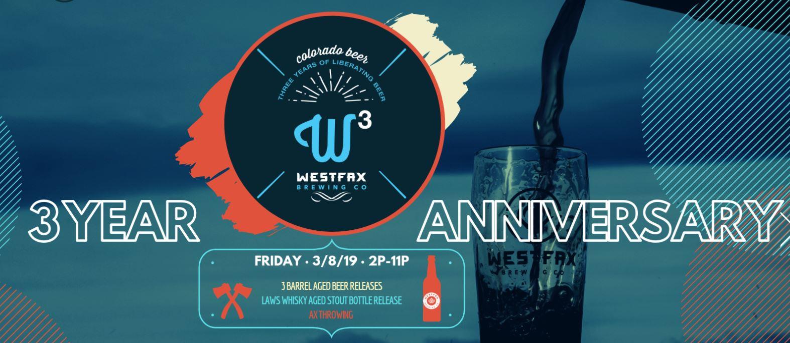 WestFax Brewing Co. - 3rd Anniversary