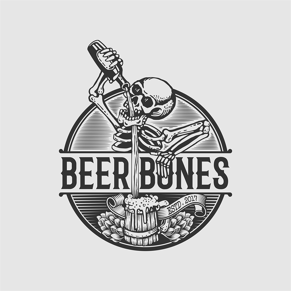 Craft beer taproom logo