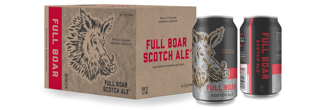 Devil's Canyon Debuts Flagship Full Boar Scotch Ale in 12oz  Cans •  thefullpint com