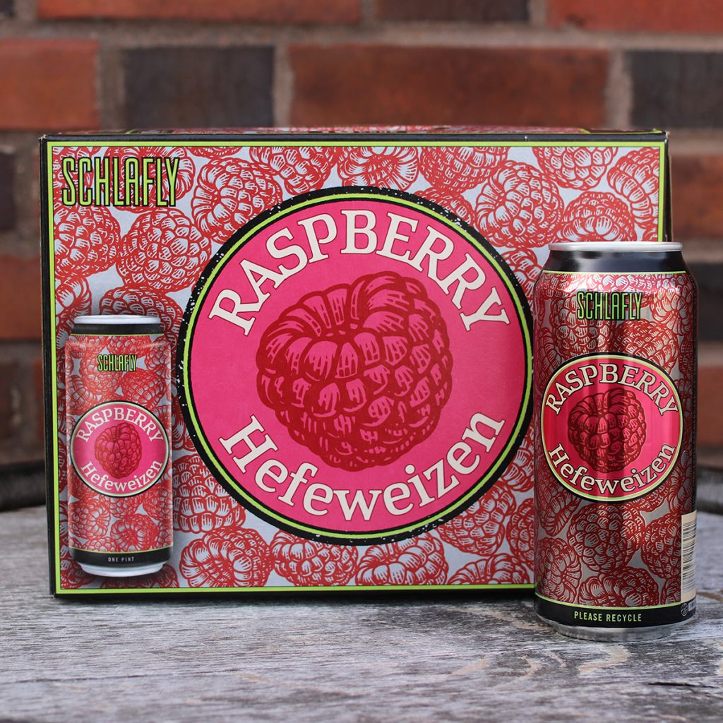 Schlafly Beer - Raspberry Hefeweizen Cans
